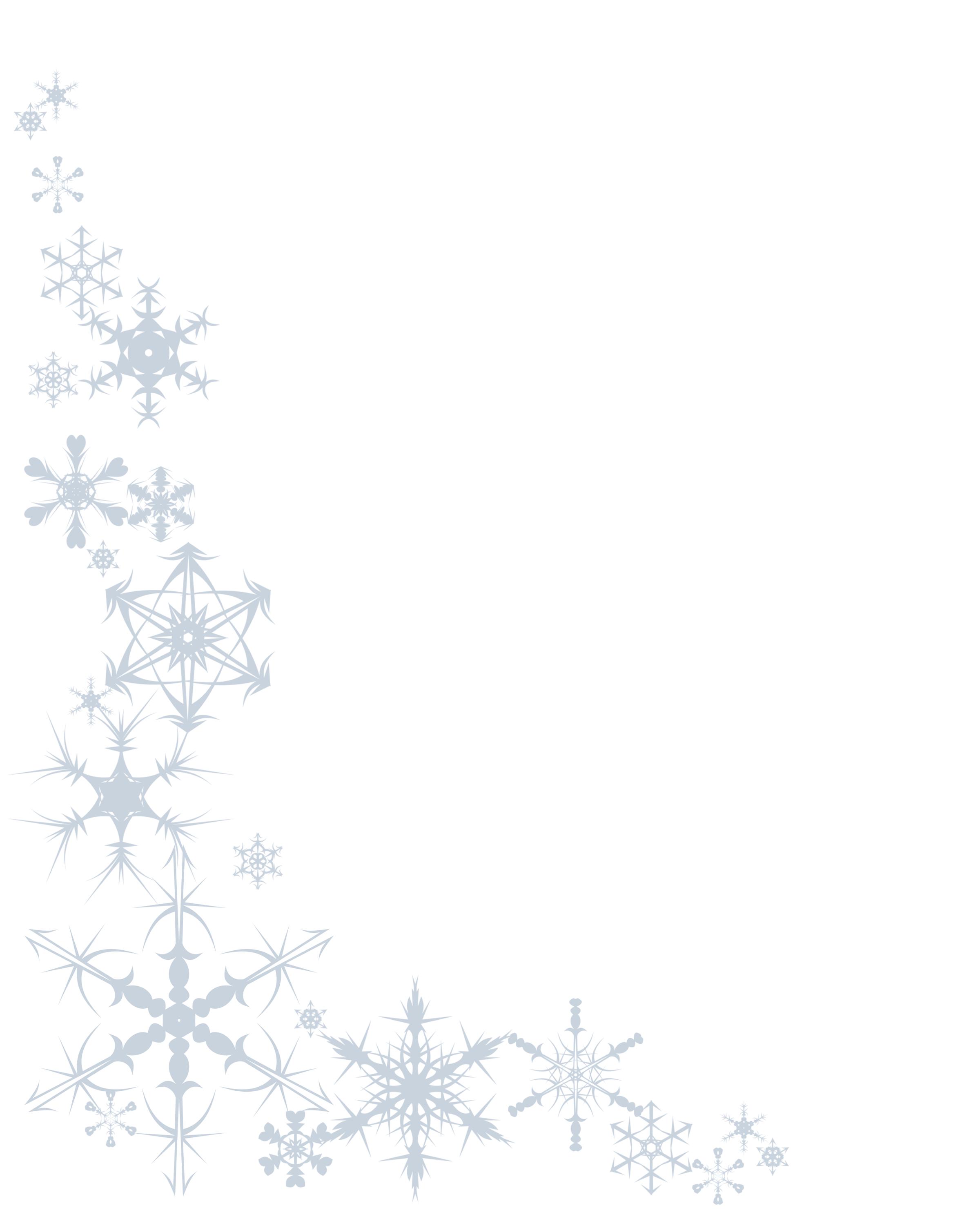 Snowflakepaper8x10 Png 2400 2980 Free Christmas Borders Christmas Stationary Christmas Border