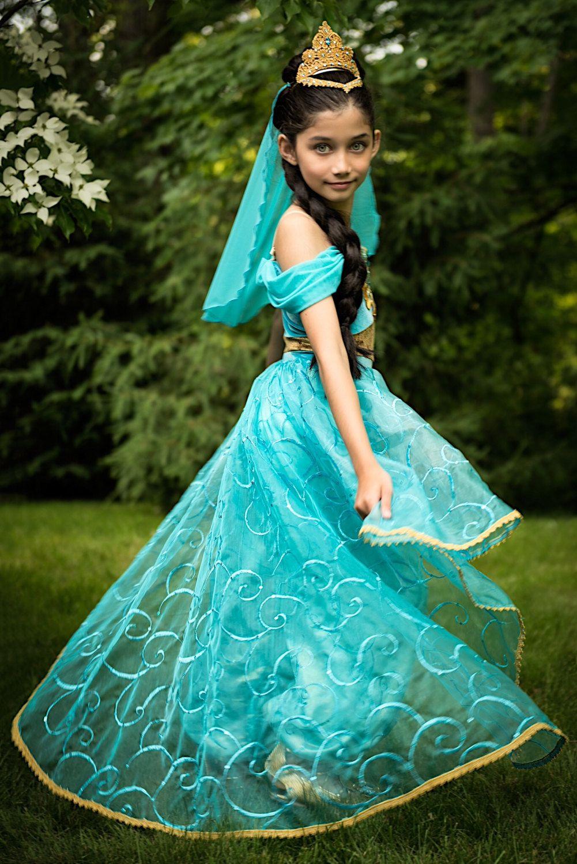 Traje de princesa Jasmine Trajes de princesa, Disfraz de