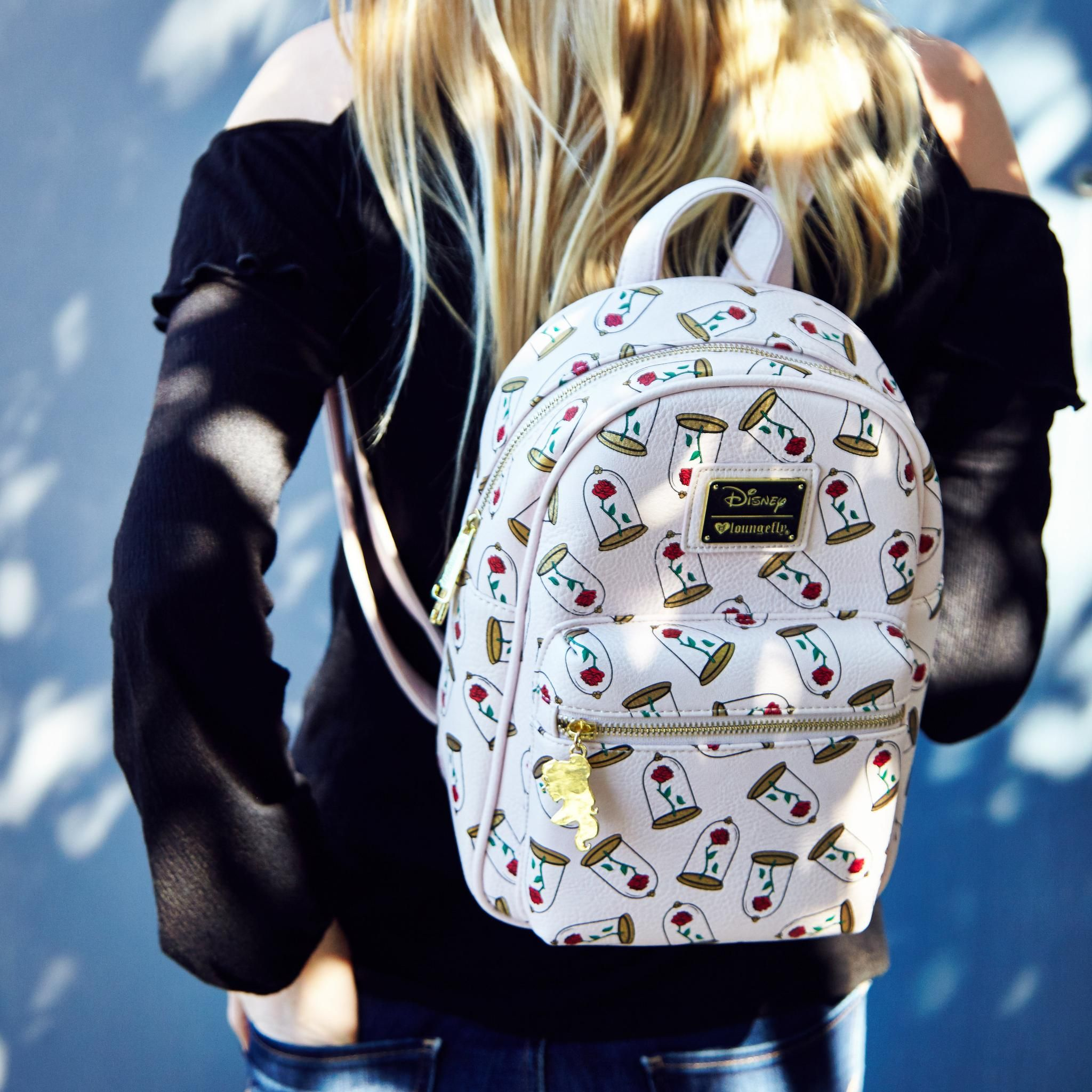 8217465311c Loungefly Disney Beauty And The Beast Enchanted Rose Mini Backpack - BoxLunch  Exclusive