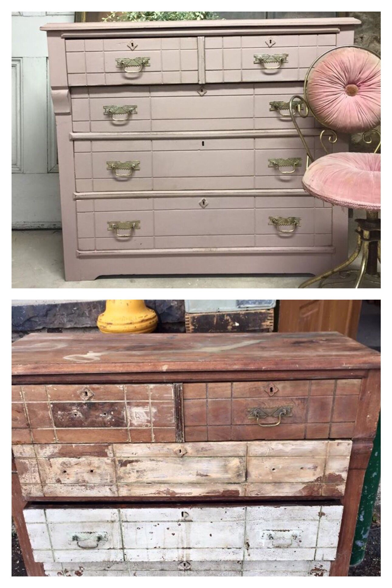 Fusion Mineral Paint Damask Before And After Painted Eastlake Dresser At Ellen J Goods Refinishing Furniture Fusion Paint Furniture Projects
