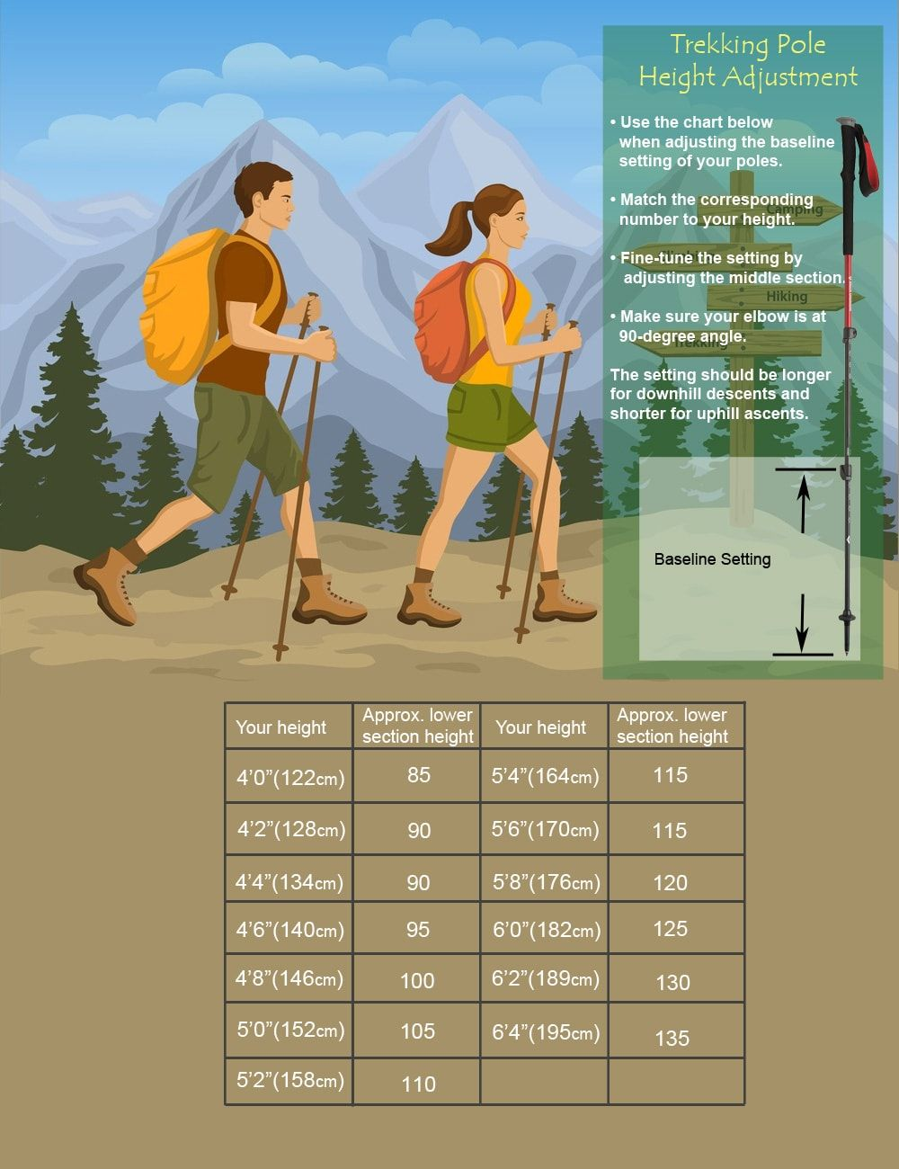 How to Choose the Right Trekking Poles [Adjustment Tips]