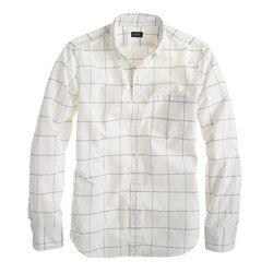 Secret wash shirt in deep violet check