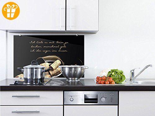 Graz Design® Küchenrückwand Spritzschutz aus Glas Spruch Liebe es - küchenrückwand glas bedruckt