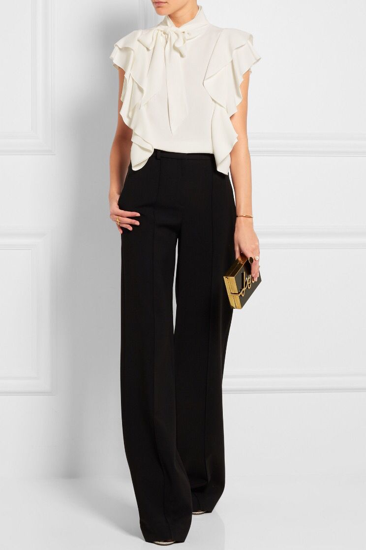Shown here with: Lanvin Top, Adam Lippes Pants, Lanvin Clutch, Alaïa Sandals, Maria Black Ring, Chloé Ring, Jennifer Fisher Cuff.