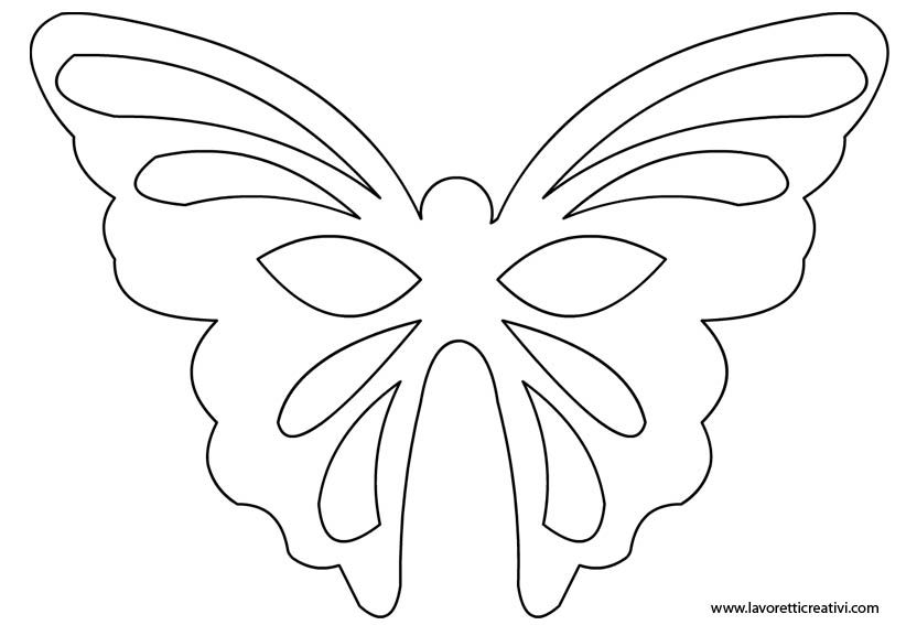 Maschera farfalla sagoma in carnevale maschere for Maschere stampabili