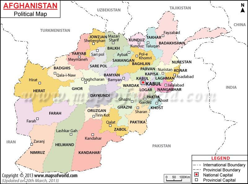 Political map of afghanistan central asia pinterest afghanistan political map of afghanistan gumiabroncs Images