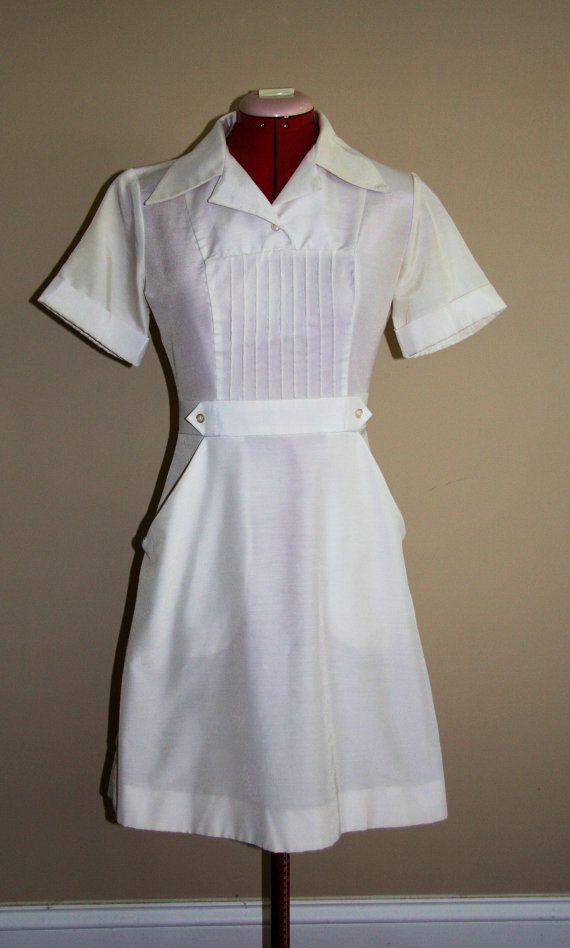 Authentic Tailored Vintage Nurse Uniform Amazing fit by Owen. , via Etsy.