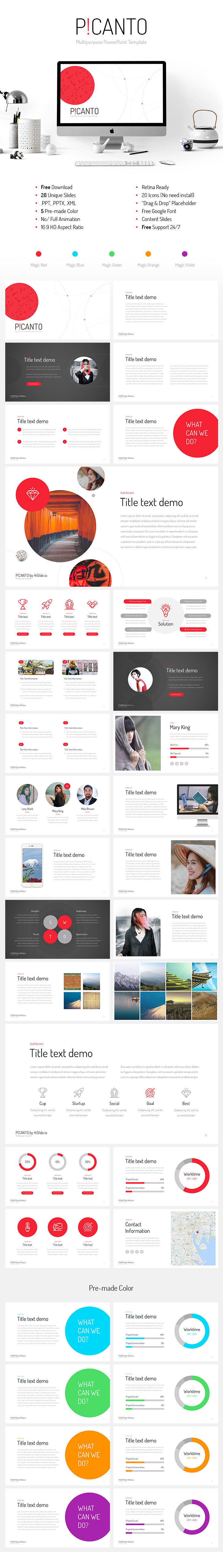 Picanto Ppt Template Free Download Designspiration Pinterest