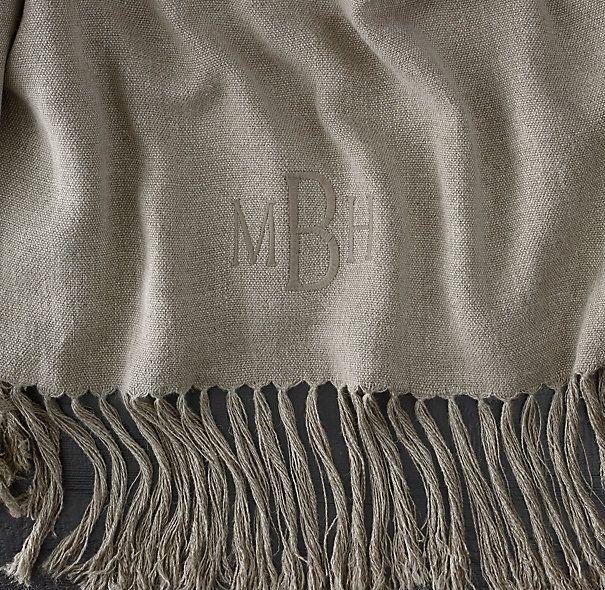 Vintage Linen Throw