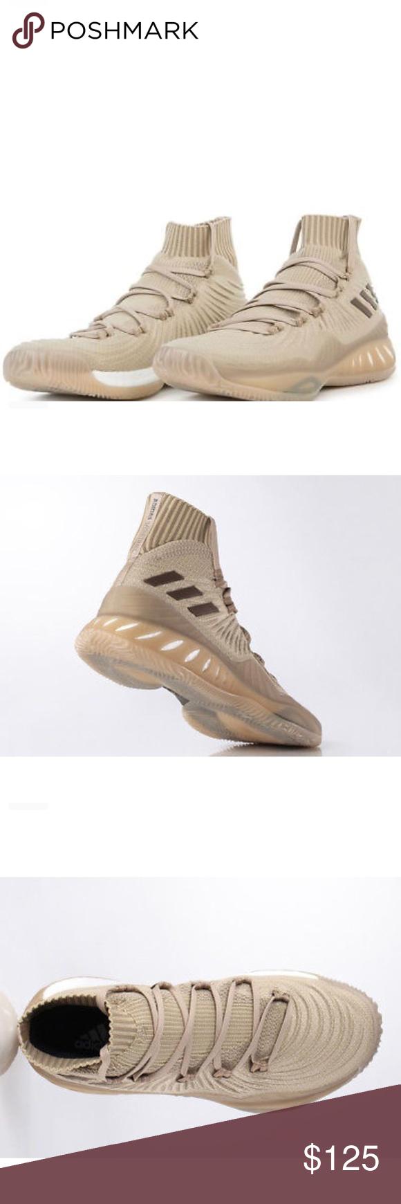 brand new 01320 f84b8 Adidas Crazy Explosive Primeknit Khaki Basketball Adidas Crazy Explosive  2017 Primeknit Trace Khaki Basketball Shoes size