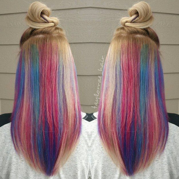 My Little Pony in Disguise | 17 Bold AF Hidden Hair Colors You Can Actually Wear To Work