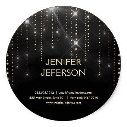 Sparkles business name sticker chic gifts diy elegant gift ideas personalize