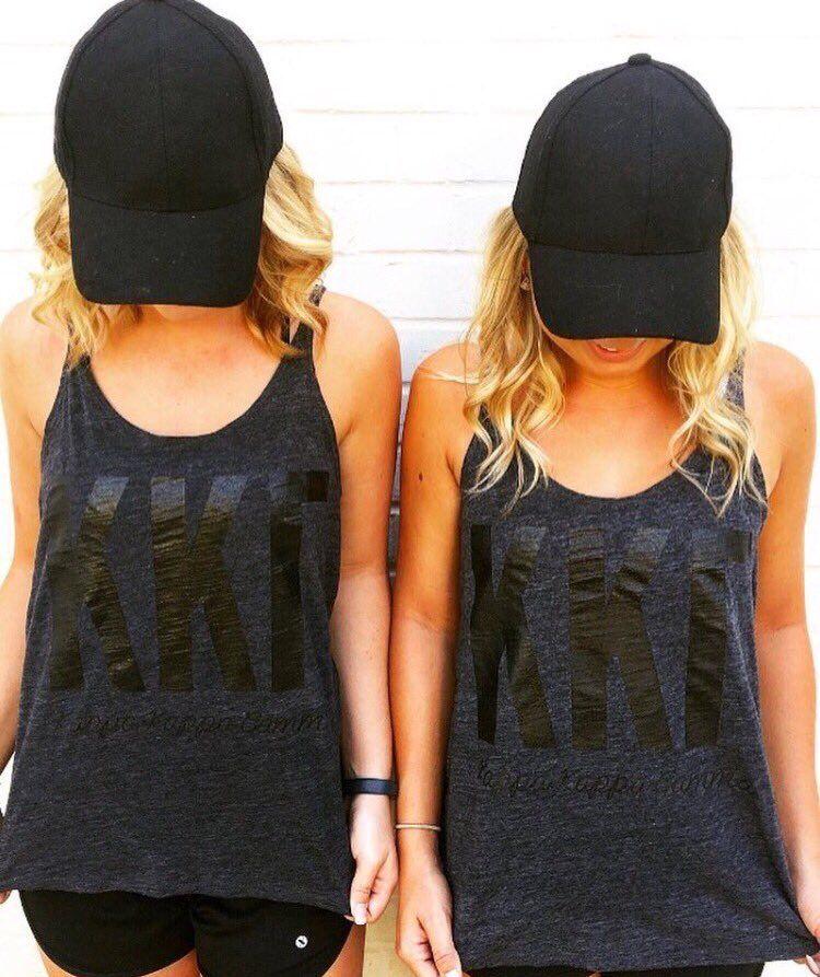 224apparel Kappa Kkg Kappakappagamma Black Sorority Tank Tank Top Fashion Florida State Apparel Apparel Design