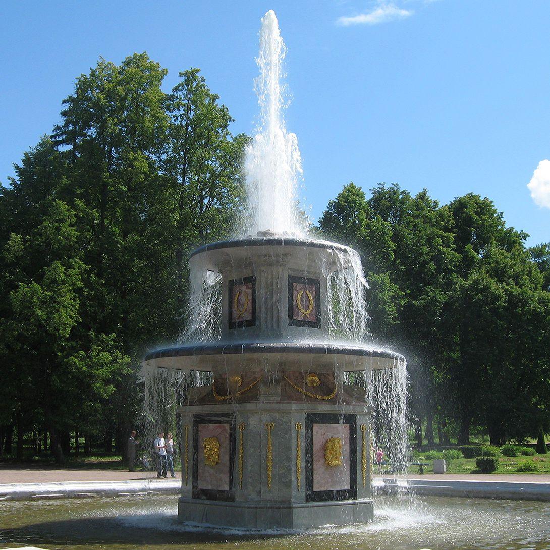 Римские фонтаны в Петергофе: история, описание, фото