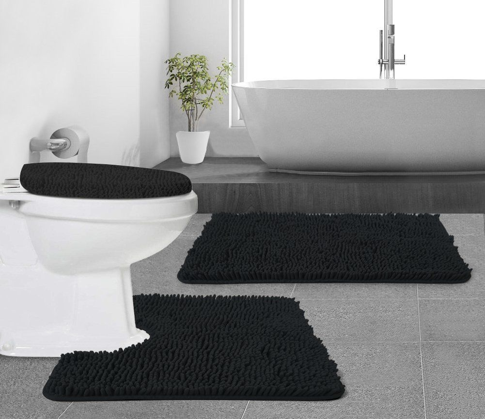 Gorilla Grip Original Shaggy Chenille Bathroom 2 Piece Rug Set Includes Mat Contoured For Toilet And 30x20 Carpet Rugs Machin With Images Rugs On Carpet Plush Mat Rug Sets