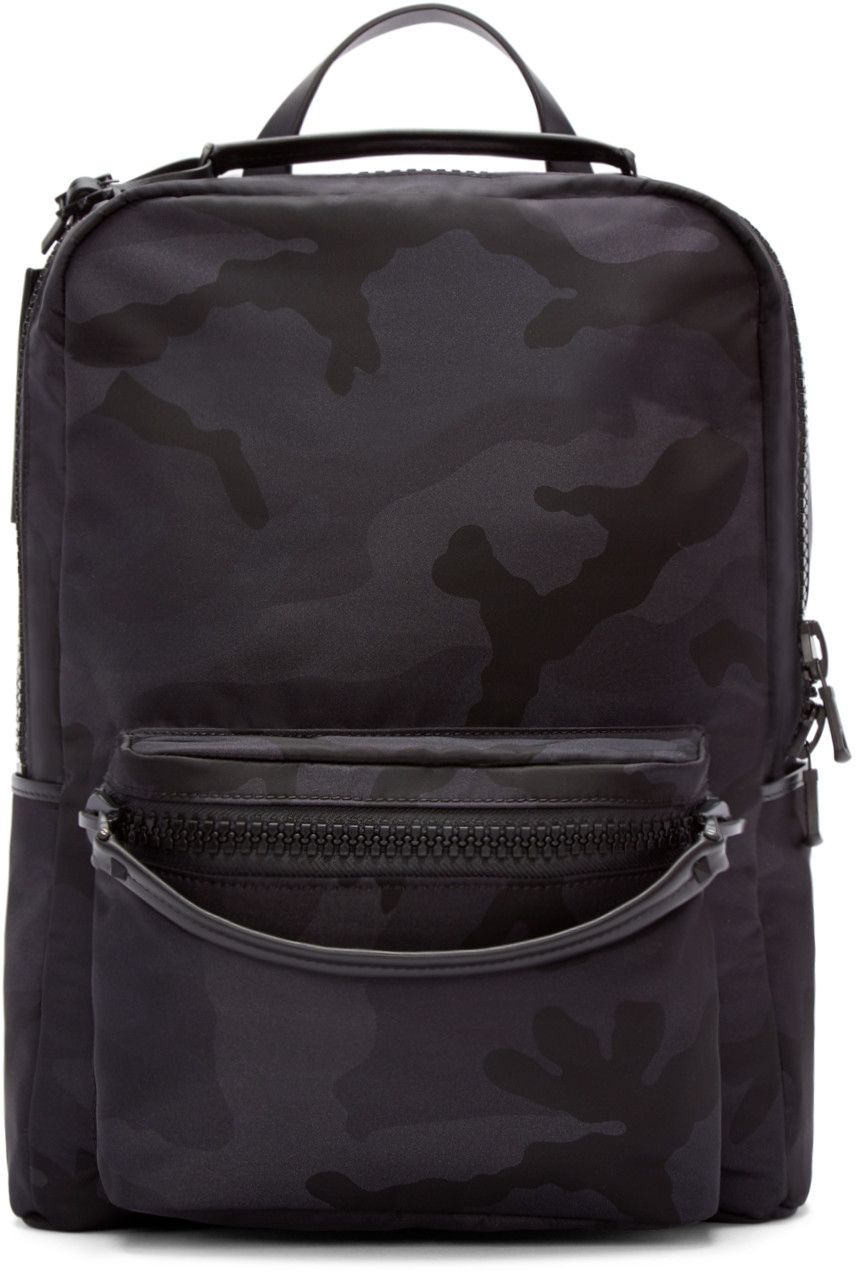 c14ffe9514f Valentino Black Camo Backpack Camouflage Backpack, Valentino Clothing,  Valentino Black, Camo Print,