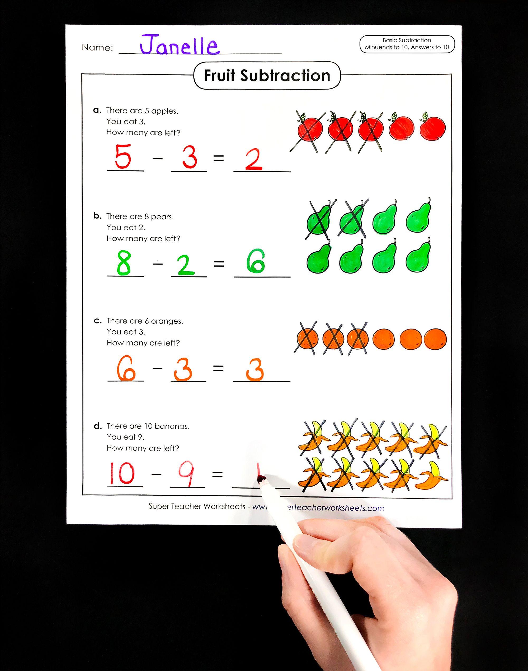Visit The Superteacherworksheets Subtraction Activities