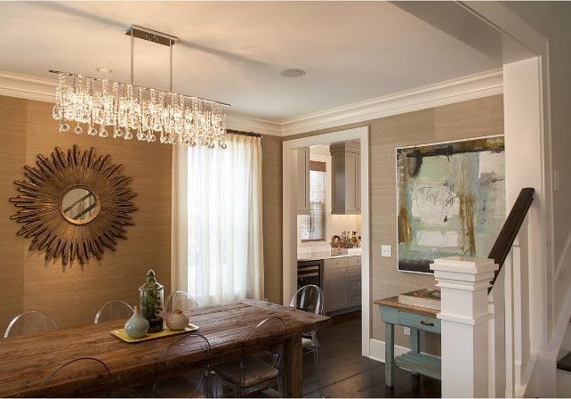 Room We Really Like Long Linear Lighting Fixtures Over Your Dining