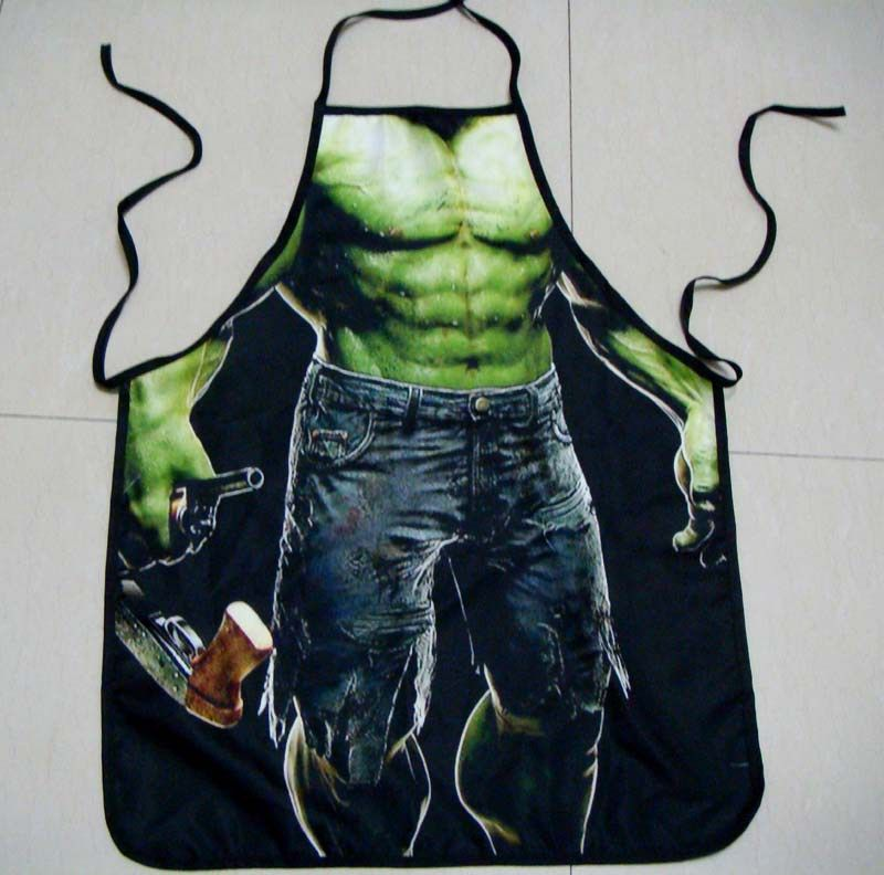 Designer Kitchen Aprons kitchen novelty sexy incredible hulk theme muscular designer