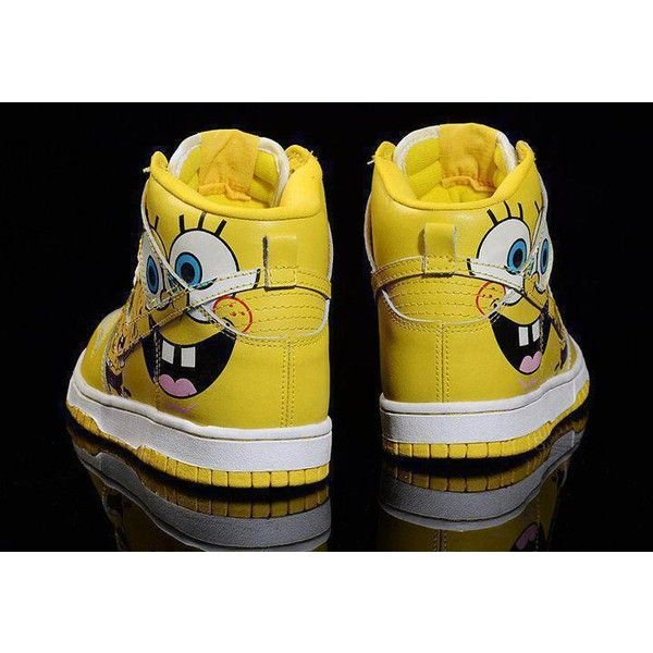Spogebob sneakers. found on Polyvore