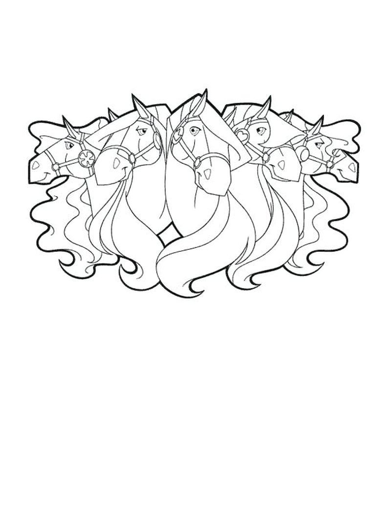 Horses Coloring Page Printable