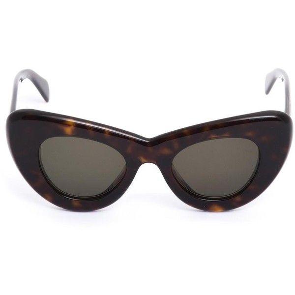 7c0acd5c6110 CÉLINE SUNGLASSES Papillon tortoiseshell sunglasses (£225) ❤ liked on Polyvore  featuring accessories