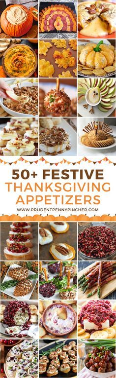 50 Festive Thanksgiving Appetizers #thanksgivingappetizers