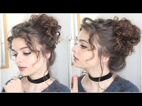 Elizabeth Swann Pirates Of The Caribbean Tutorial Beauty Beacons Of Fiction Youtube Messy Bun Curly Hair Easy Hair Updos Messy Curly Bun