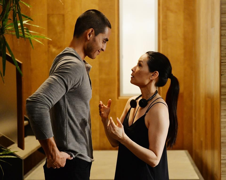 Bts of graceland lucy liu giving direction to manny