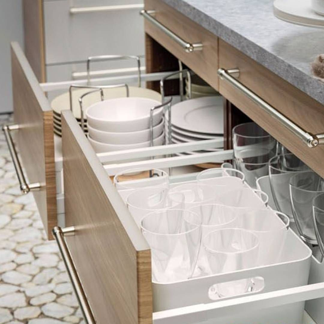 We Love These Ikeausa Drawer Dividers Who Says Plates Glasses Have To Live In Cabinets Drawer Dividers Drawers Divider