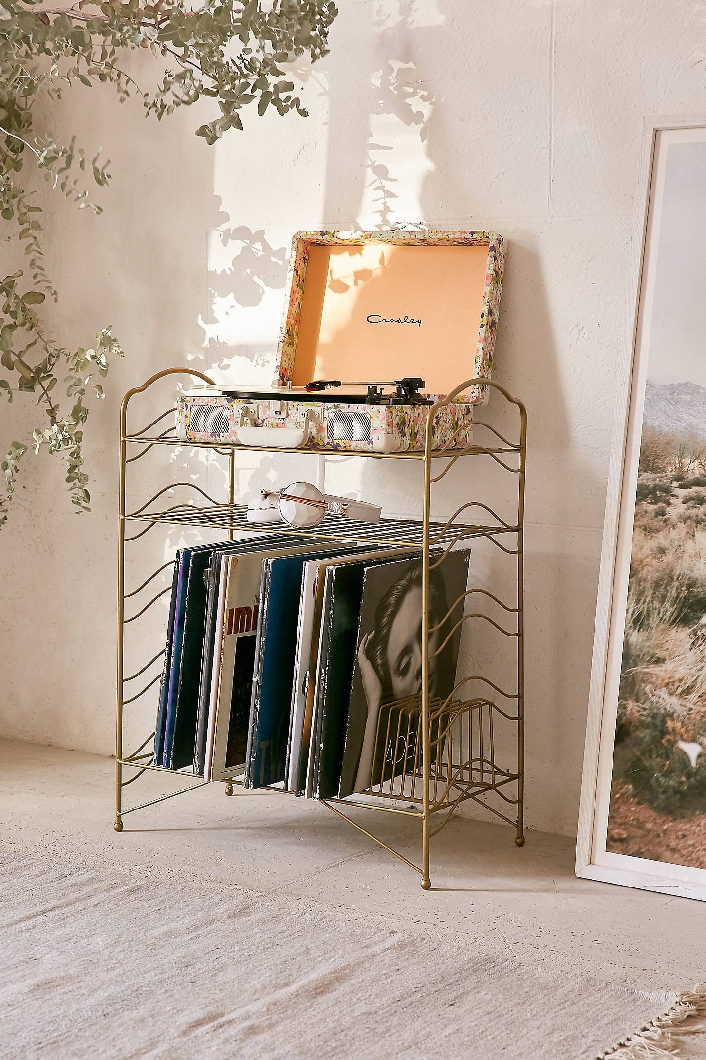 storage pin etsy tv shelf stacked on media console derelictdesign vinyl by century mid legs record hairpin solid wood