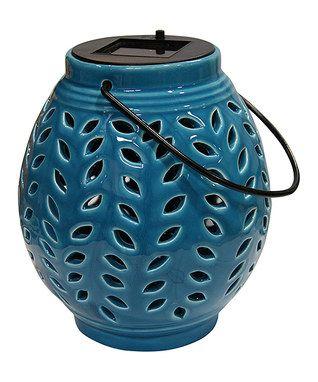 Powered The Sun Ceramic Lantern Outdoor Hanging