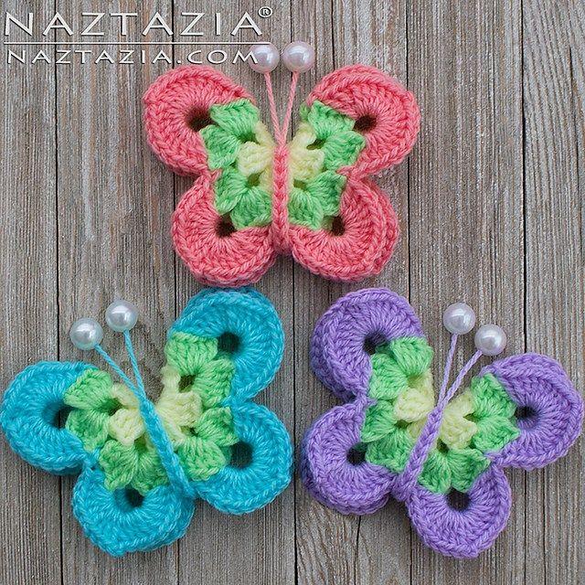 Crochet Sweet Simple Butterfly Free Pattern Tutorial Video   Crochet ...