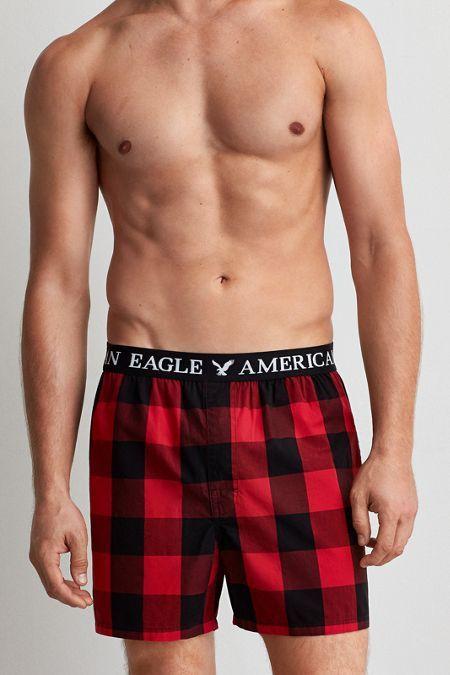2e05790c4f9b73 AEO Buffalo Check Boxer, Men's, Size: XL, Red | *Clothing* | Mens ...
