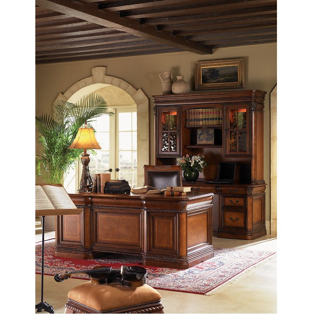 """Rope Twist Detail Executive Desk - 72""""W 