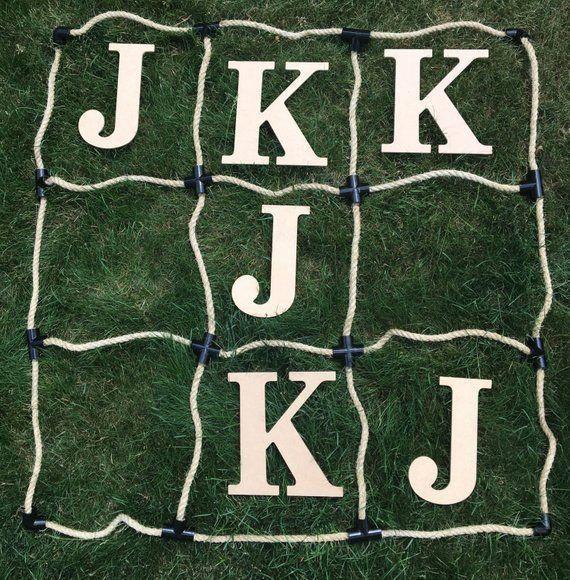 Tic Tac Toe Personalized / Initials Wedding FUN Over sized Big Outdoor Wedding Yard Lawn Game
