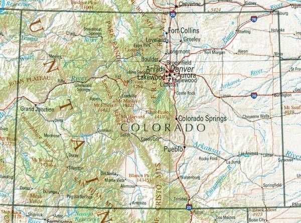 nice Map of colorado   Holidaymapq   Pinterest   Nice map  Colorado     nice Map of colorado