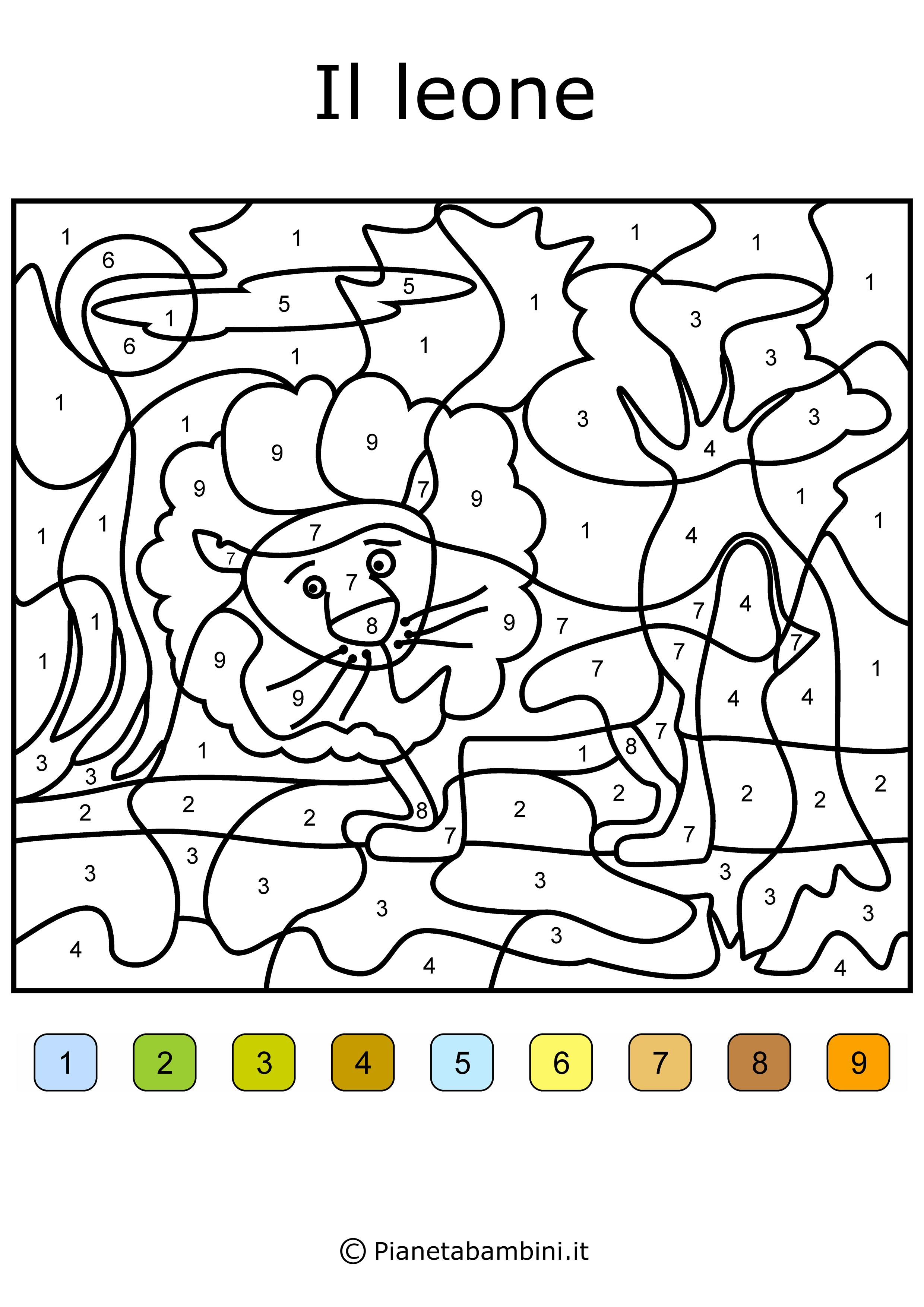 Risultati Immagini Per Disegni Da Colorare Con Numeri E Colori