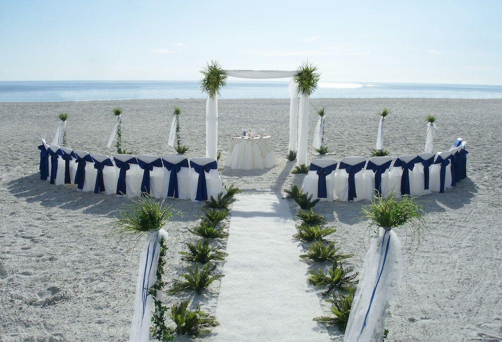 Sarasota Florida Beach Wedding Decor White Trellis Navy