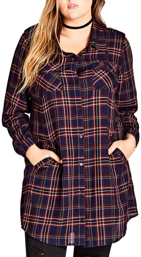 a94f3c85d16 City Chic Record Love Longline Shirt | Products | City chic, Chic ...