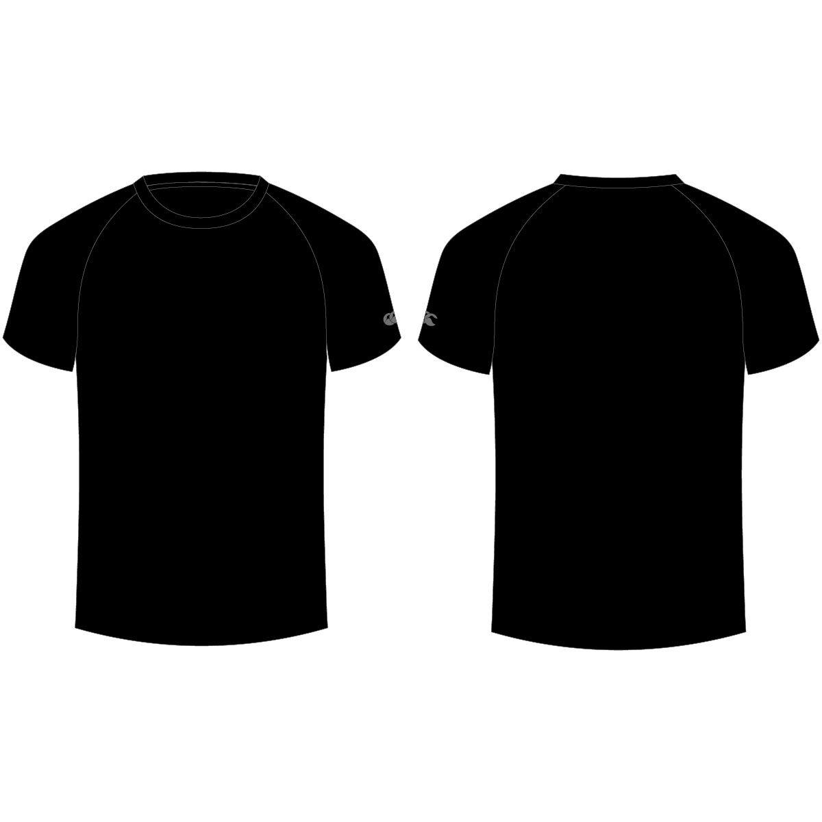 Black T Shirt Plain Back Baju Kaos Kaos Desain Pakaian