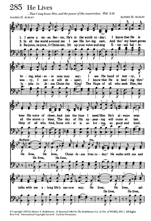 Lyric risen lyrics : He Lives for Music | Sing Joyfully (1989), p.280 | Songs ...