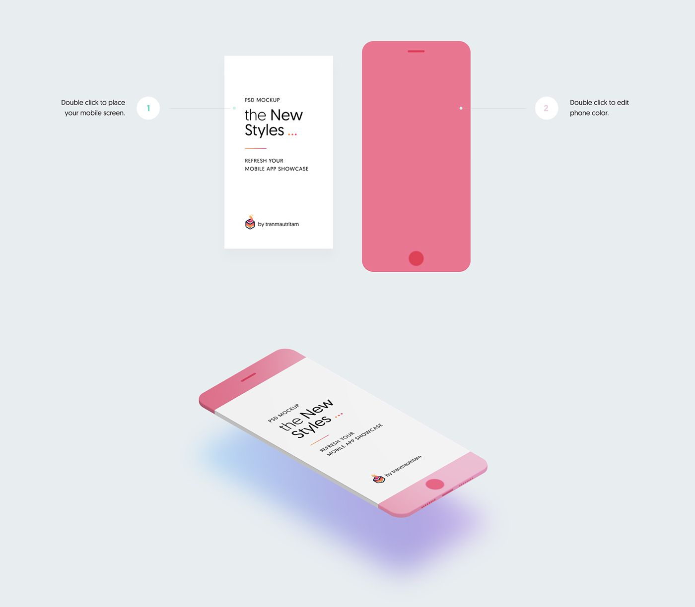 Download Free Download New Minimalistic Phone Mockups On Behance Iphone Mockup Psd Iphone Mockup Iphone