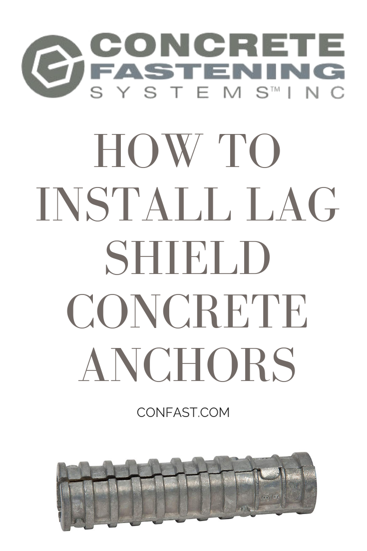 This Is A Short Video Showing How To Install Lag Shield Anchors Concrete Fastening Systems Inc Is Based In Cleveland Concrete Anchors Concrete Installation