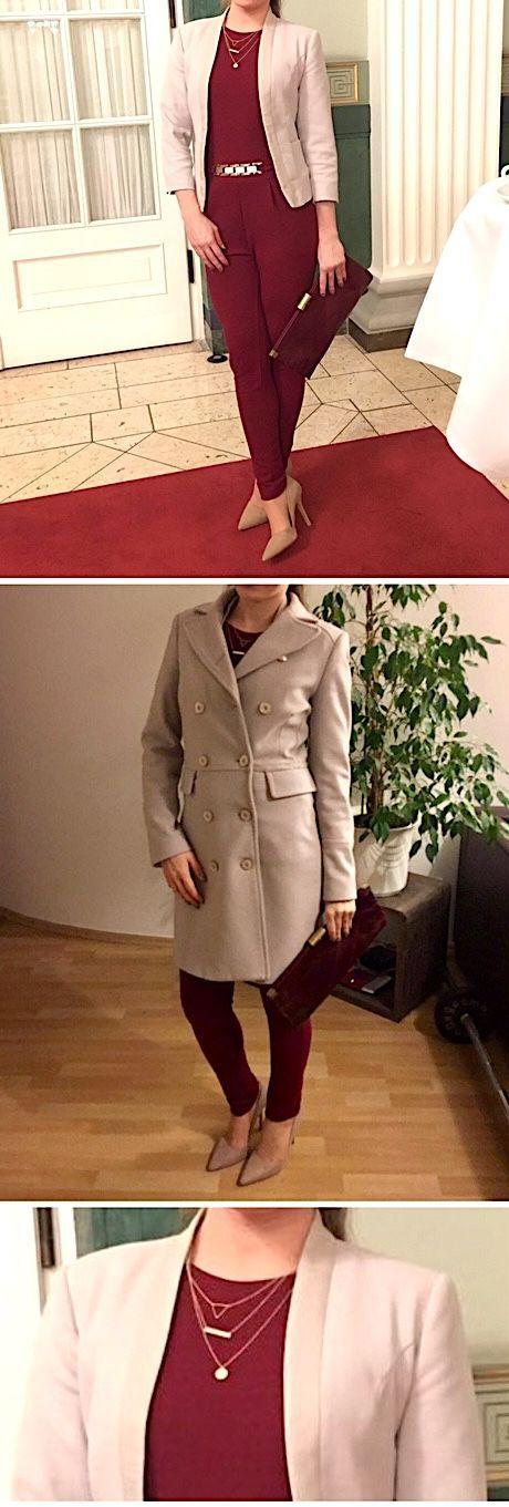 Herbstliches Outfit für ein Konzert die Oper oder zum