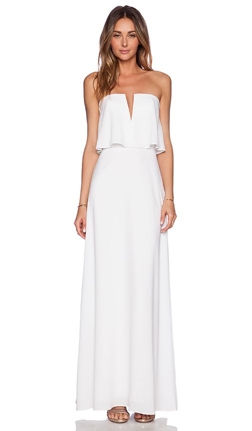 White Maxi Dress Elegant Resort Wear Or Very Casual To Marry On The Beach