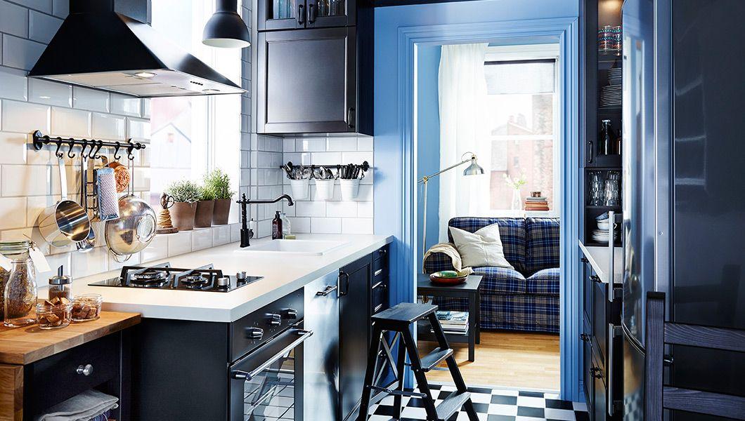 Living Ikea kleine küche, Kleine küche, Ikea küche