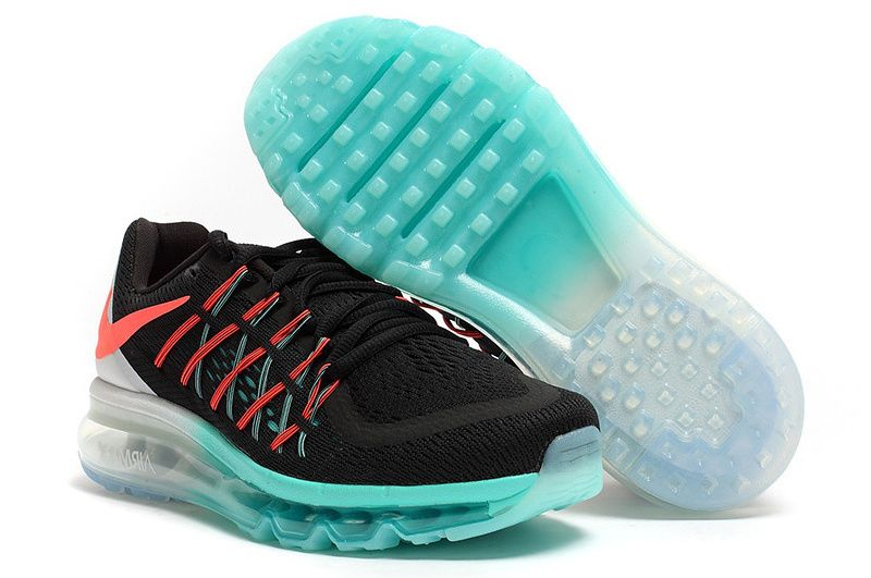 Nike Air Max 2015 Shoes For Women Black White Blue Sko  Shoes