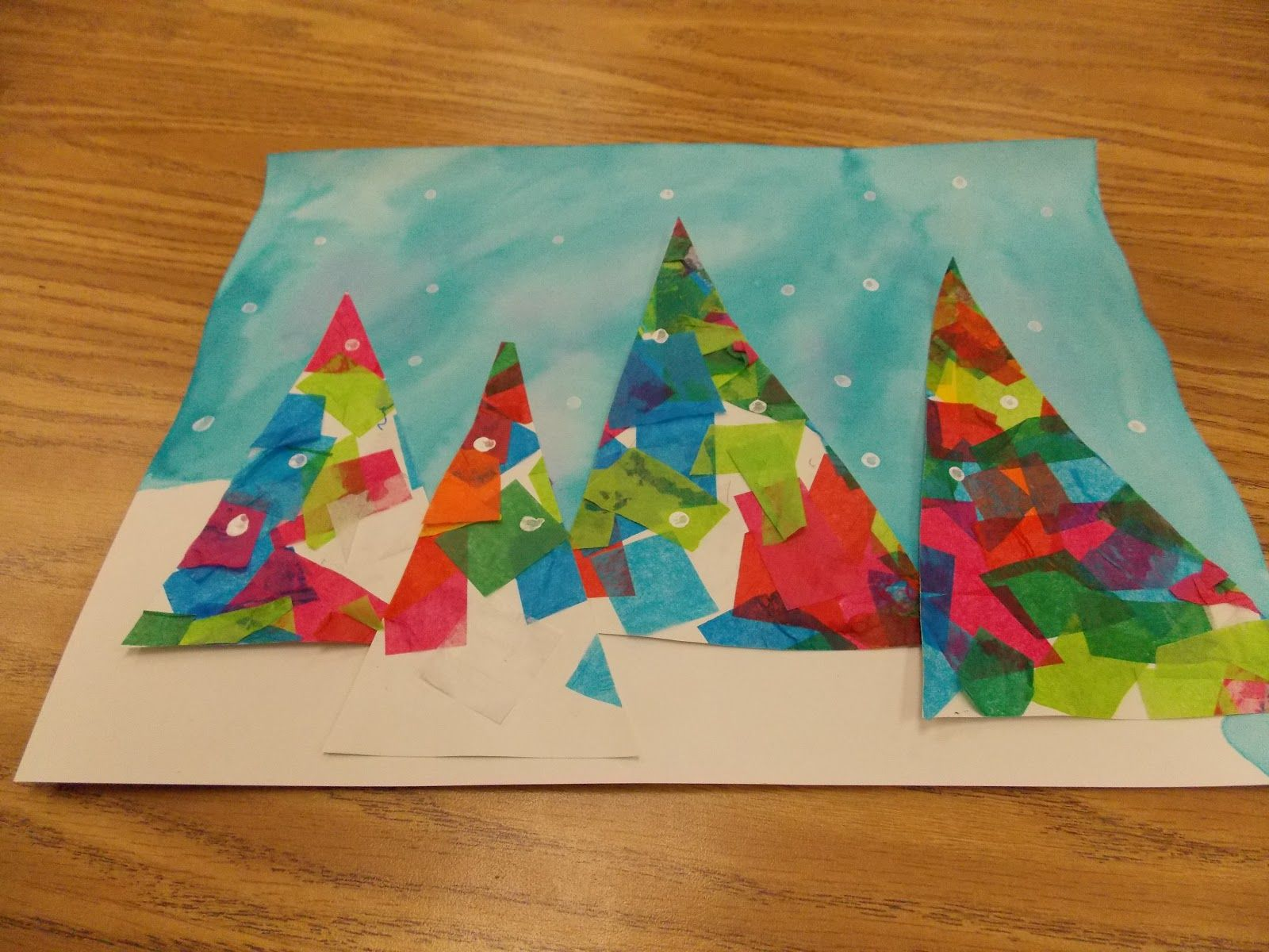 Great idea for second grade art project description from for 3rd grade christmas craft ideas