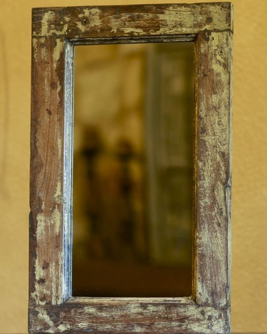 Distressed Wood And Glass Bathroom Wall Cabinet: 4sisterShop Home Decor